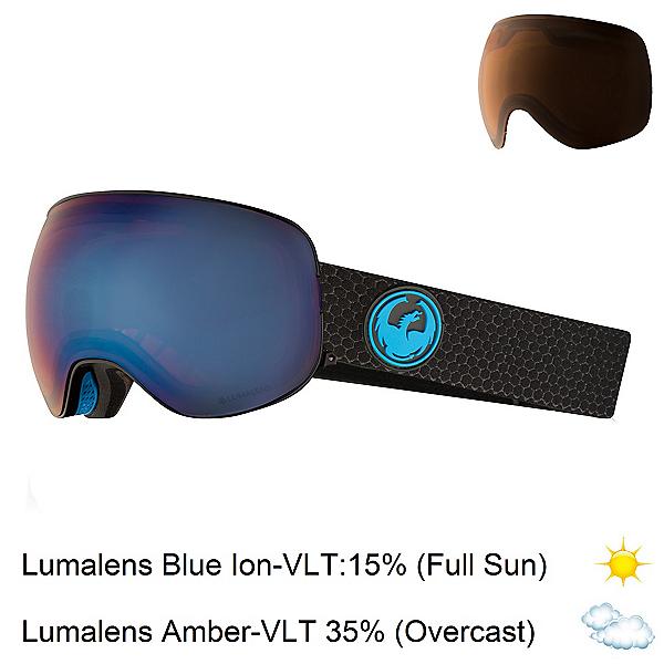 Dragon X2 Goggles 2018, Split-Lumalens Blue Ion + Bonus Lens, 600