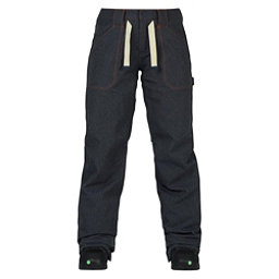 Burton Veazie Womens Snowboard Pants, Denim, 256