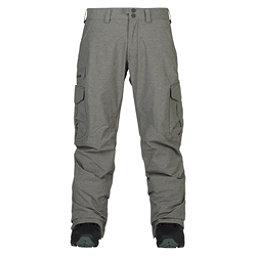 Burton Cargo Tall Mens Snowboard Pants, Shade Heather, 256