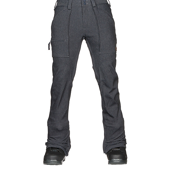 Burton Southside Slim Fit Mens Snowboard Pants, Denim, 600