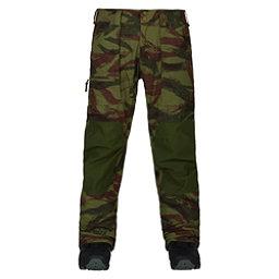 Burton Southside Slim Fit Mens Snowboard Pants, Brush Camo-Rifle Green, 256