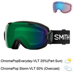 Smith I/OS Womens Goggles 2018, Black-Chromapop Everyday Green + Bonus Lens, 256