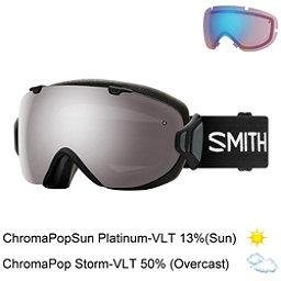 Smith I/OS Womens Goggles 2018, Black-Chromapop Sun Platinum M + Bonus Lens, 256