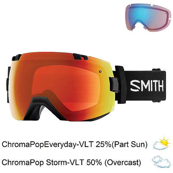 Smith I/OX Goggles 2018, Black-Chromapop Everyday Red M + Bonus Lens, 600