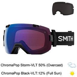 Smith I/OX Goggles 2018, Black-Chromapop Storm Rose Fla + Bonus Lens, 256