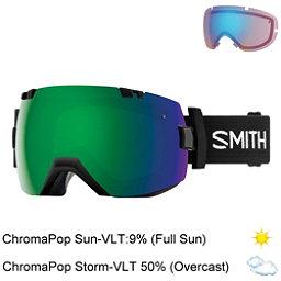 Smith I/OX Goggles 2018, Black-Chromapop Sun Green Mirr + Bonus Lens, 256