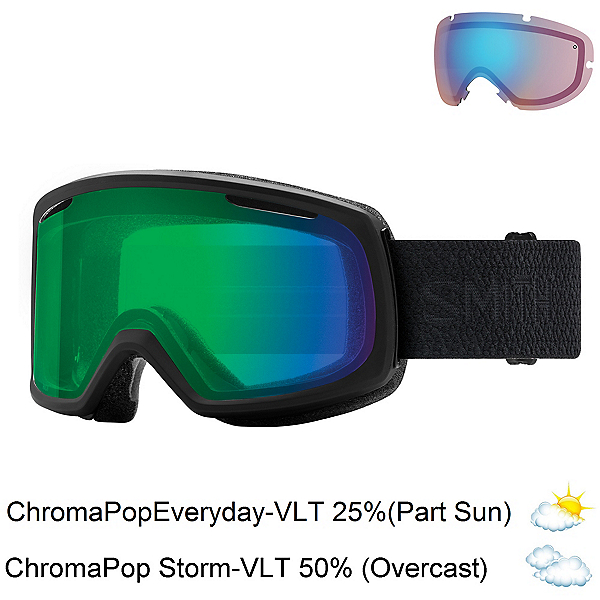Smith Riot Womens Goggles 2018, Black Mosaic-Chromapop Everyda + Bonus Lens, 600