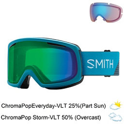 Smith Riot Womens Goggles 2018, Mineral Split-Chromapop Everyd + Bonus Lens, 256