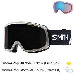 Smith Riot Womens Goggles 2018, Monaco-Chromapop Sun Black + Bonus Lens, 256