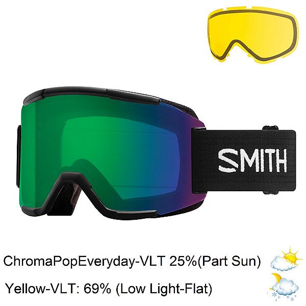 Smith Squad Goggles 2018, Black-Chromapop Everyday Green + Bonus Lens, 600