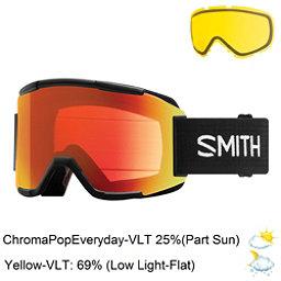 Smith Squad Goggles 2018, Black-Chromapop Everyday Red M + Bonus Lens, 256