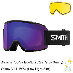 Smith Squad Goggles 2018, Black-Chromapop Everyday Viole + Bonus Lens, 256