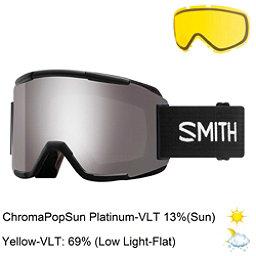 Smith Squad Goggles 2018, Black-Chromapop Sun Platinum M + Bonus Lens, 256