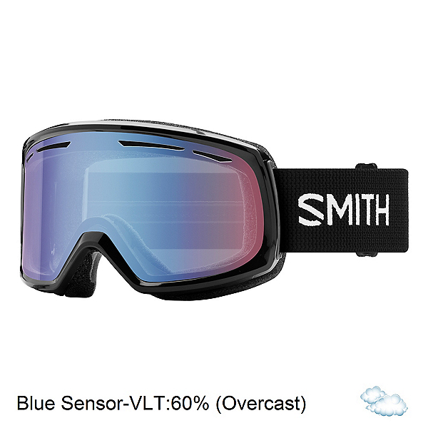 Smith Drift Womens Goggles 2018, Black-Blue Sensor Mirror, 600