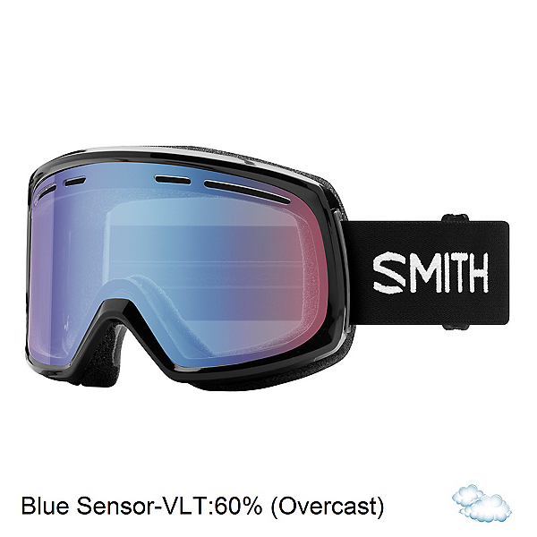 Smith Range Goggles 2018, Black-Blue Sensor Mirror, 600