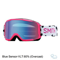 Smith Daredevil Girls Goggles 2018, Pink Jam-Blue Sensor Mirror, 256