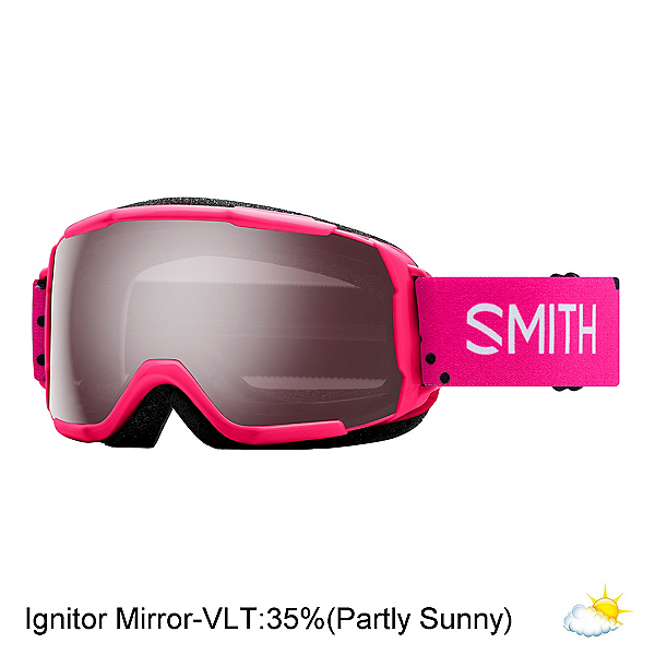 Smith Grom Jr. Girls Goggles 2018, Pink Monaco-Ignitor Mirror, 600