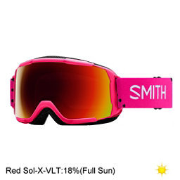 Smith Grom Jr. Girls Goggles 2018, Pink Monaco-Red Sol X, 256