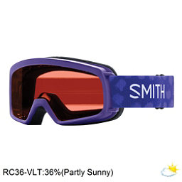 Smith Rascal Girls Goggles 2018, Ultraviolet Brush Dots-Rc36, 256