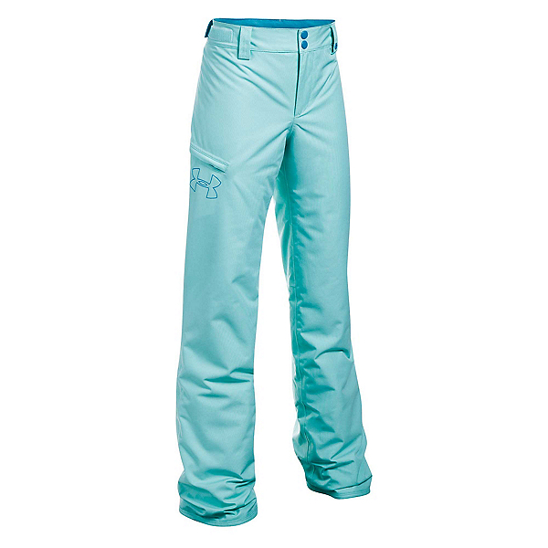 Under Armour ColdGear Infrared Chutes Girls Ski Pants, Blue Infinity-Blue Shift, 600