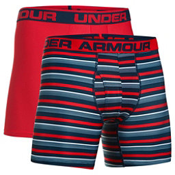 Under Armour Original 6in Novelty 2 Pack Mens Long Underwear Pants, Academy-Red, 256