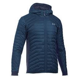 Under Armour ColdGear Reactor Hybrid Mens Jacket, True Ink-Midnight Navy, 256