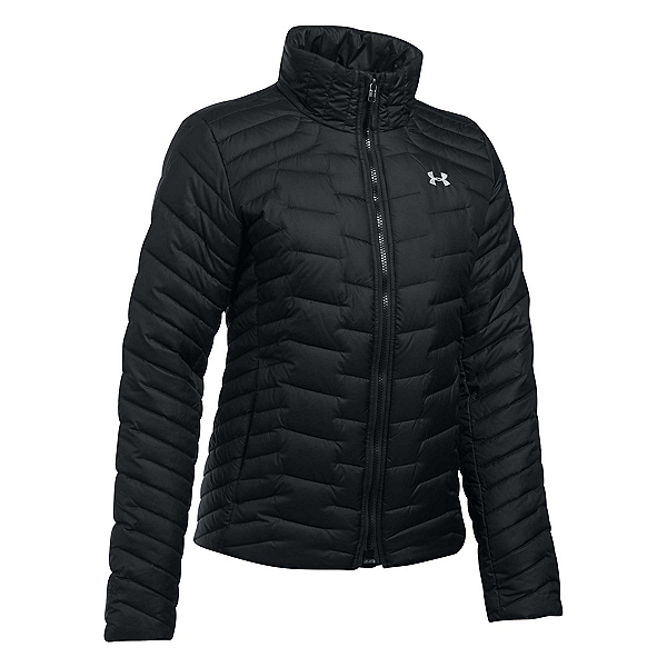Under Armour ColdGear Reactor Womens Jacket, Black-Glacier Gray, 600