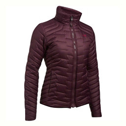 Under Armour ColdGear Reactor Womens Jacket, Raisin Red-Stealth Gray, 256