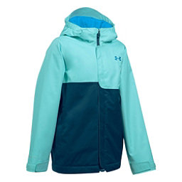 Under Armour ColdGear Infrared Freshies Rideable Girls Ski Jacket, Blue Infinity-True Ink, 256