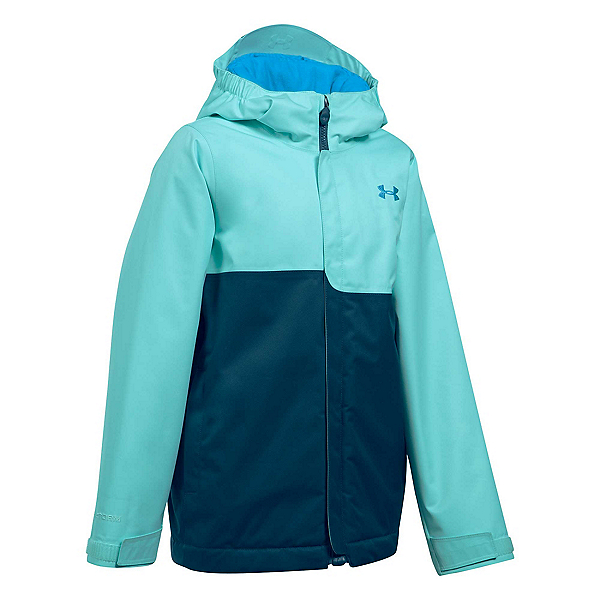 Under Armour ColdGear Infrared Freshies Rideable Girls Ski Jacket, Blue Infinity-True Ink, 600
