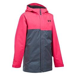 Under Armour ColdGear Infrared Freshies Rideable Girls Ski Jacket, Penta Pink-Apollo Gray, 256