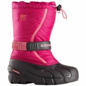 Sorel Flurry Girls Boots, Deep Blush-Tropic Pink, medium