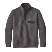 Patagonia Cotton Quilt Snap-T Mens Mid Layer, Forge Grey, medium