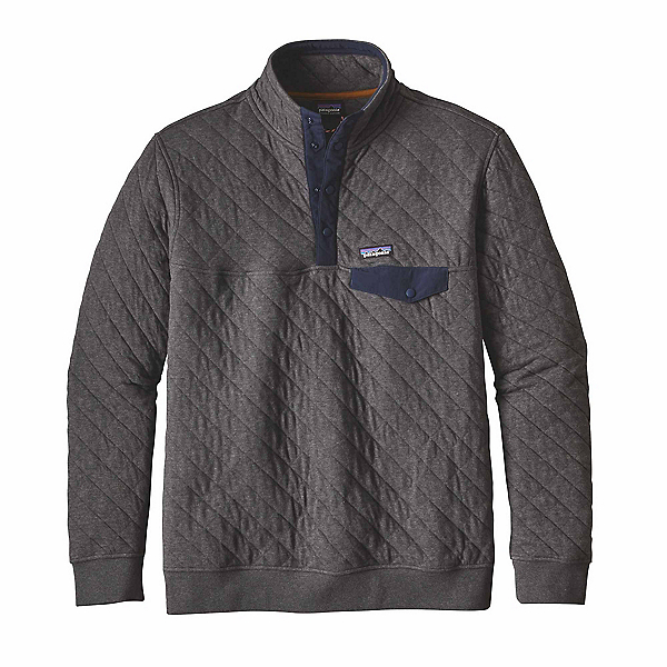 Patagonia Cotton Quilt Snap-T Mens Mid Layer, Forge Grey, 600