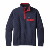 Patagonia Cotton Quilt Snap-T Mens Mid Layer, Navy Blue, medium