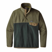 Patagonia Lightweight Synchilla Snap-T Mens Mid Layer, Industrial Green, medium