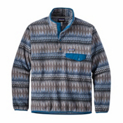 Patagonia Lightweight Synchilla Snap-T Mens Mid Layer, Laughing Waters Smolder Blue, medium