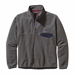 Patagonia Lightweight Synchilla Snap-T Mens Mid Layer, Nickel-Navy Blue, 256