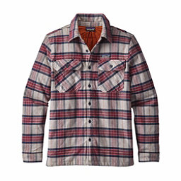 Patagonia Insulated Fjord Flannel Mens Jacket, Migration Plaid-Drumfire Red, 256