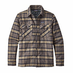 Patagonia Insulated Fjord Flannel Mens Jacket, Migration Plaid-Forge Grey, 256