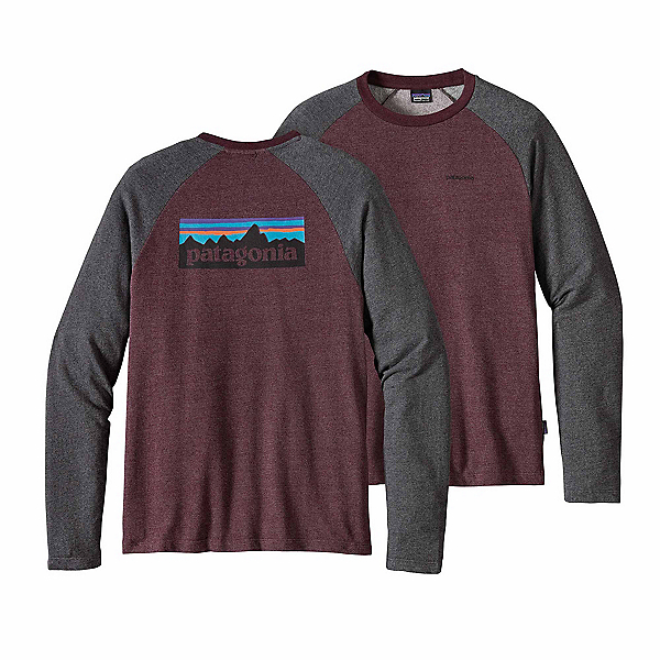 Patagonia P-6 Logo Lightweight Crew Sweatshirt, Dark Ruby, 600