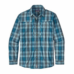 Patagonia Long Sleeved Sun Stretch Mens Shirt, Costa Filter Blue, 256