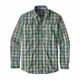 Patagonia Long Sleeved Sun Stretch Mens Shirt, Costa Industrial Green, 256