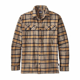 Patagonia Long Sleeved Fjord Flannel Shirt, Migration Plaid Mojave Khaki, 256