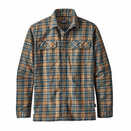 Patagonia Long Sleeved Fjord Flannel Shirt, Salty Flats Mojave Khaki, 256