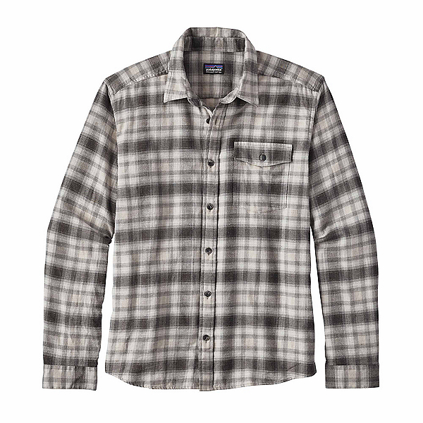 Patagonia Long Sleeved Lightweight Fjord Flannel Shirt, Revival Feather Grey, 600