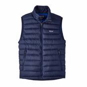 Patagonia Down Sweater Mens Vest, Navy Blue, medium