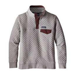 Patagonia Cotton Quilt Snap-T Womens Mid Layer, Drifter Grey-Dark Ruby, 256