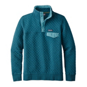 Patagonia Cotton Quilt Snap-T Womens Mid Layer, Elwha Blue, medium