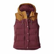 Patagonia Bivy Hooded Womens Vest, Dark Ruby, medium